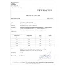 Kalibrační list od výrobce zdarma